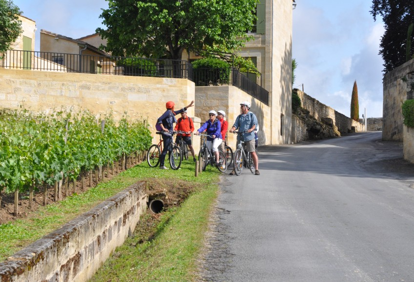 Route des vins de Saint-Emilion à vélo
