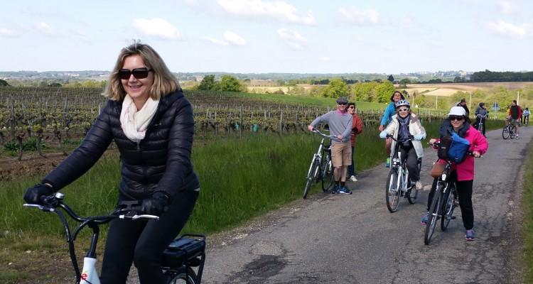 vins de bordeaux à vélo