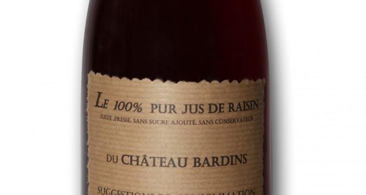 jus de raisin au Château Bardins