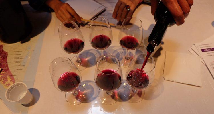photos de verres de vins pour dégustation