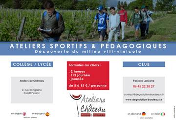 couverture catalogue ateliers pédagogiques viti-vinicole Bordeaux