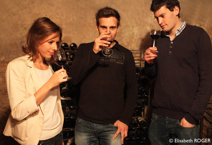 image of people tasting wine