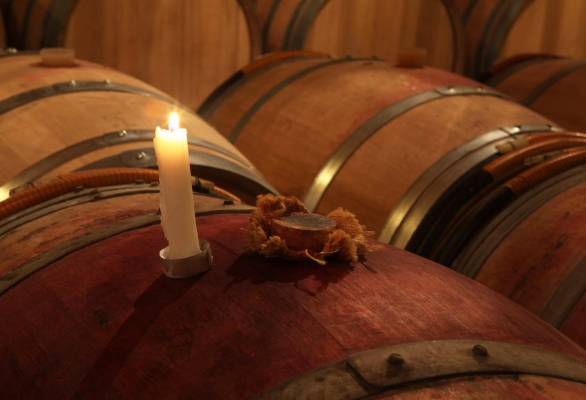 image of barrels of bordeaux's wine