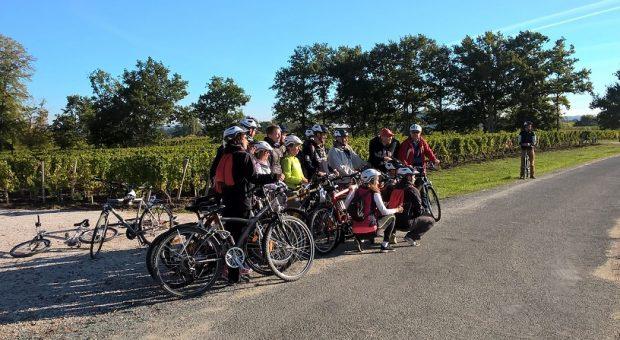 photo d'un groupe à vélo