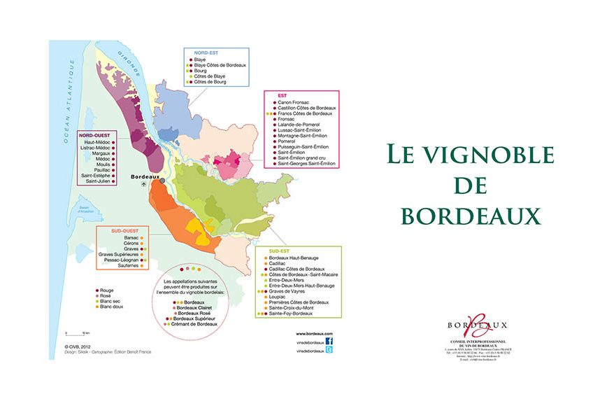 map of bordeaux's vineyards