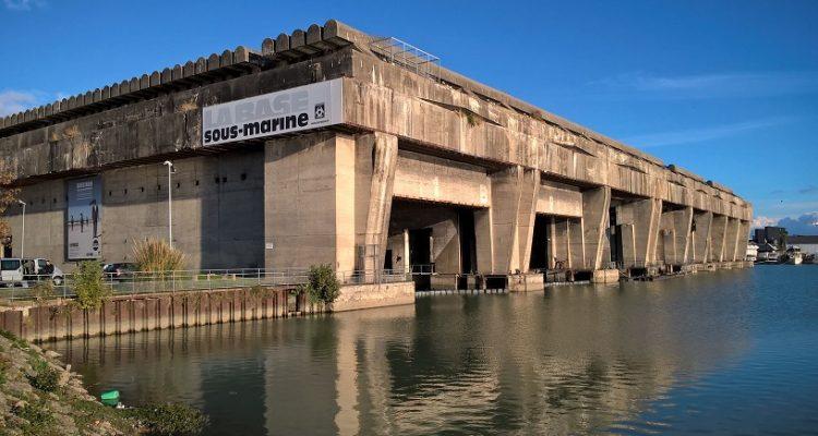 photo de la base sous-marine de Bordeaux