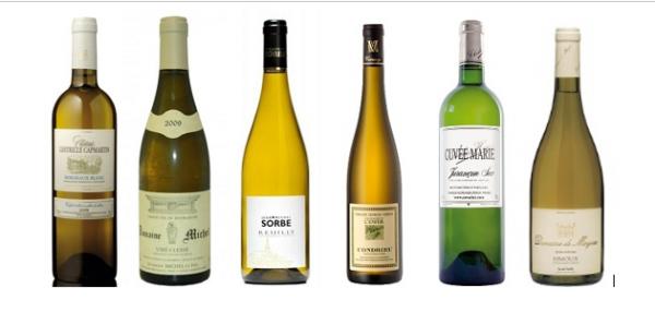 photos de 6 bouteilles de vin dégustés
