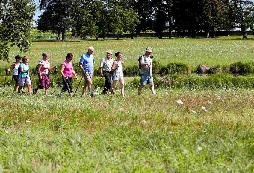 image d'un groupe de randonneurs