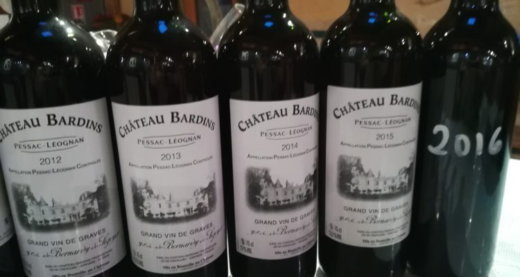 bouteilles chateau bardins