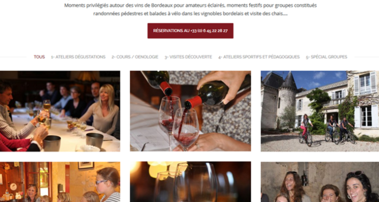 image site internet dégustation de vins de bordeaux