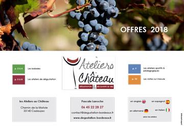 brochure activités degustation vins bordeaux 2018