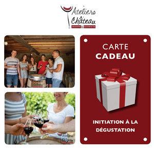 Carte cadeau atelier initiation degustation vins bordeaux