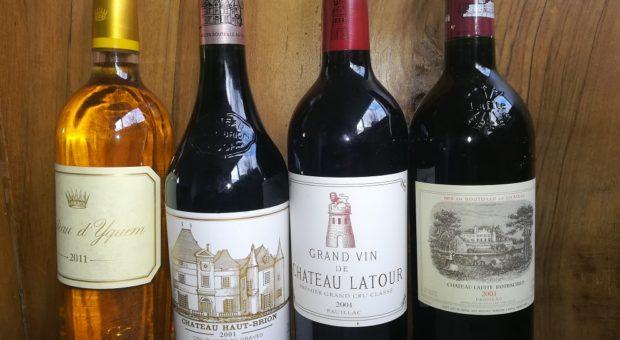 image de bouteilles crus classés