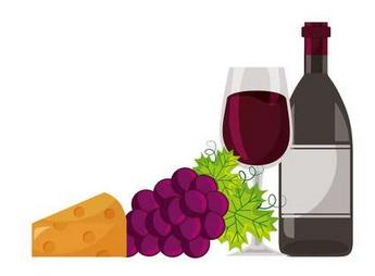 image vin pain et fromage